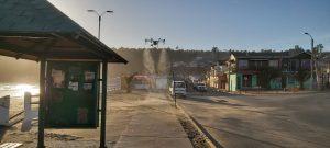 Gasmar apoya sanitización de espacios públicos de Puchuncaví y Ventanas con uso de drones